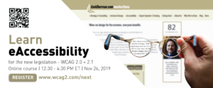 Learn eAccessibility graphic