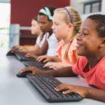 Children using computers