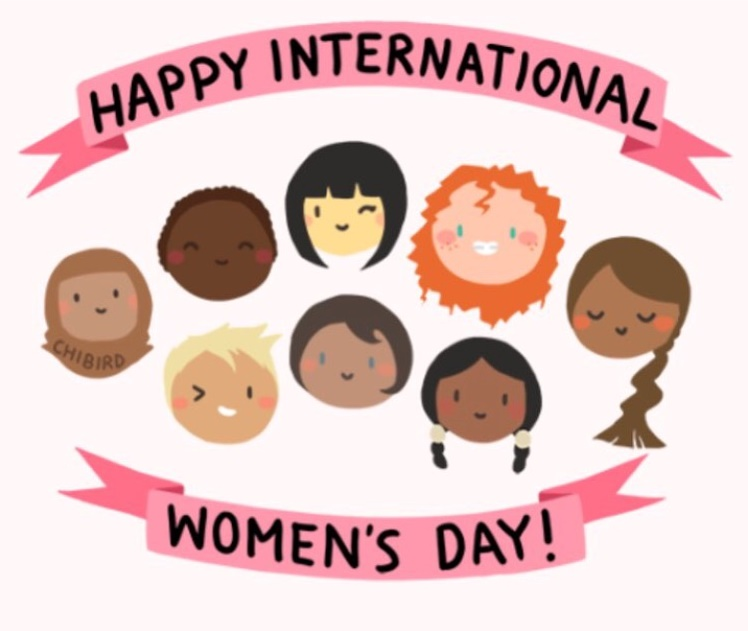 happy international women's day graphic