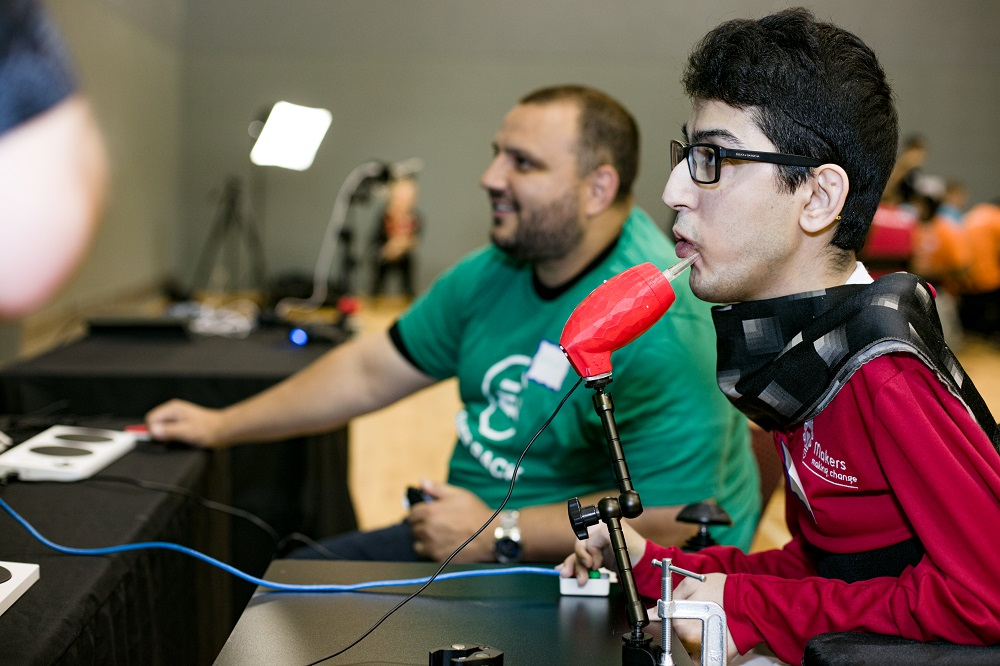 Milad Hajihassan, Systems Developer at Neil Squire and a local gamer with a disability.