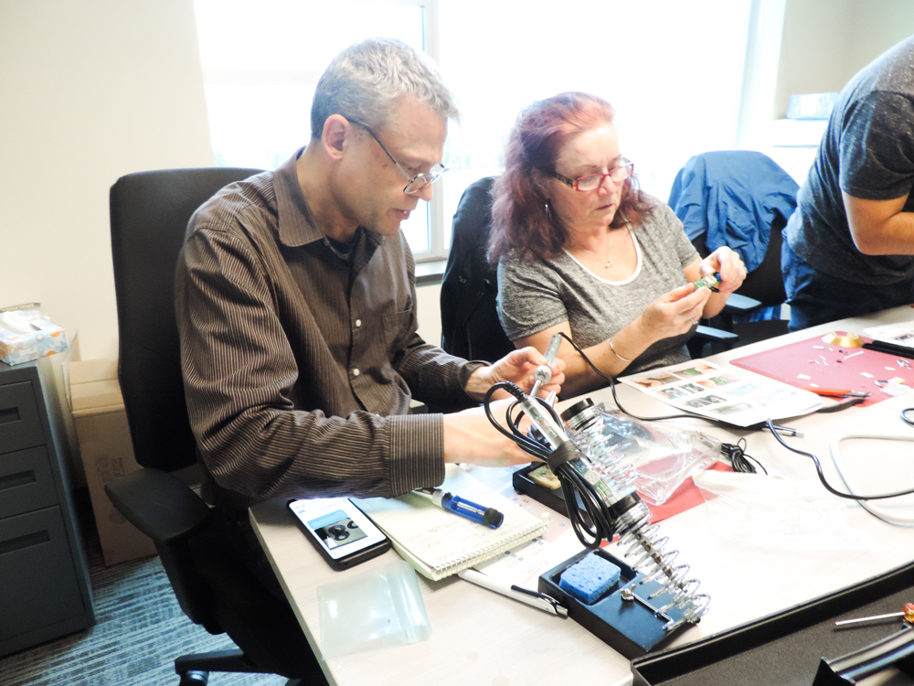 Prairie Regional Manager, Nikki Langdon, working with our Electronics Technician, Derrick