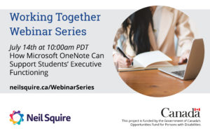 July 14th How Microsoft One Note Can Support Students' Executive Functioning
