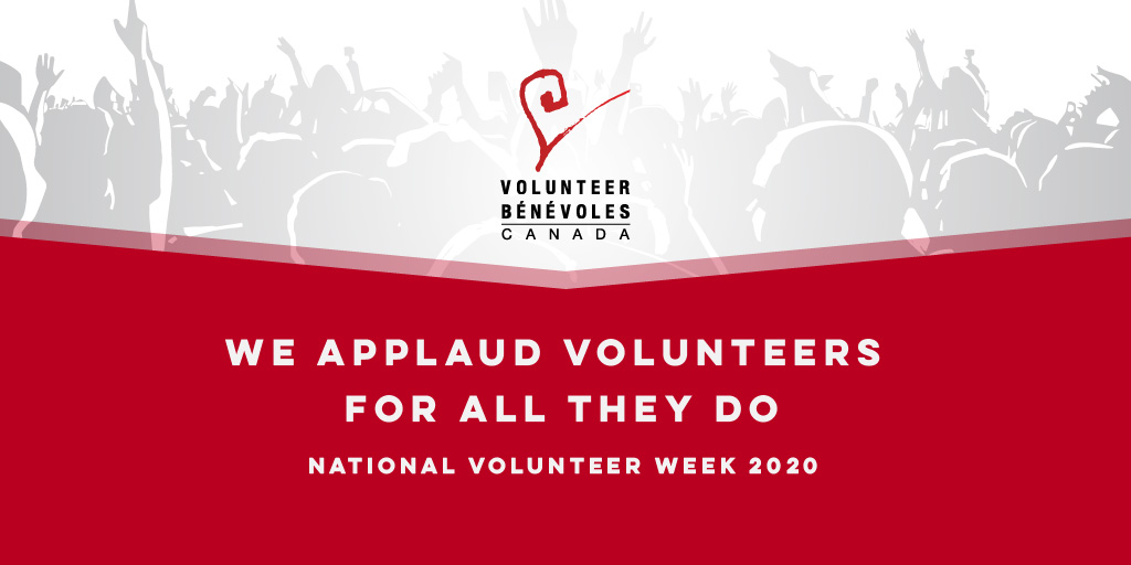 Text: We applaud our volunteers for all they do