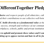 #DifferentTogether Pledge