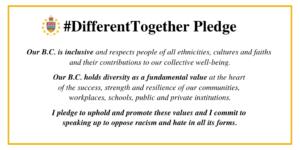 #DifferentTogether Pledge