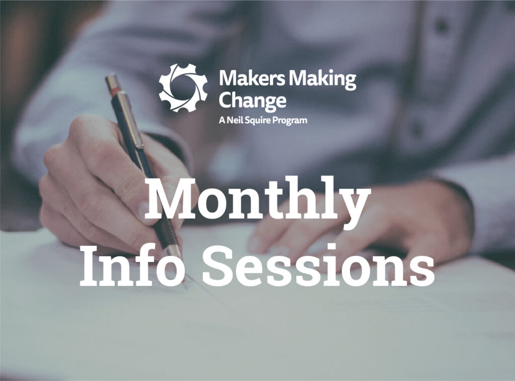 Text: Monthly Info Sessions