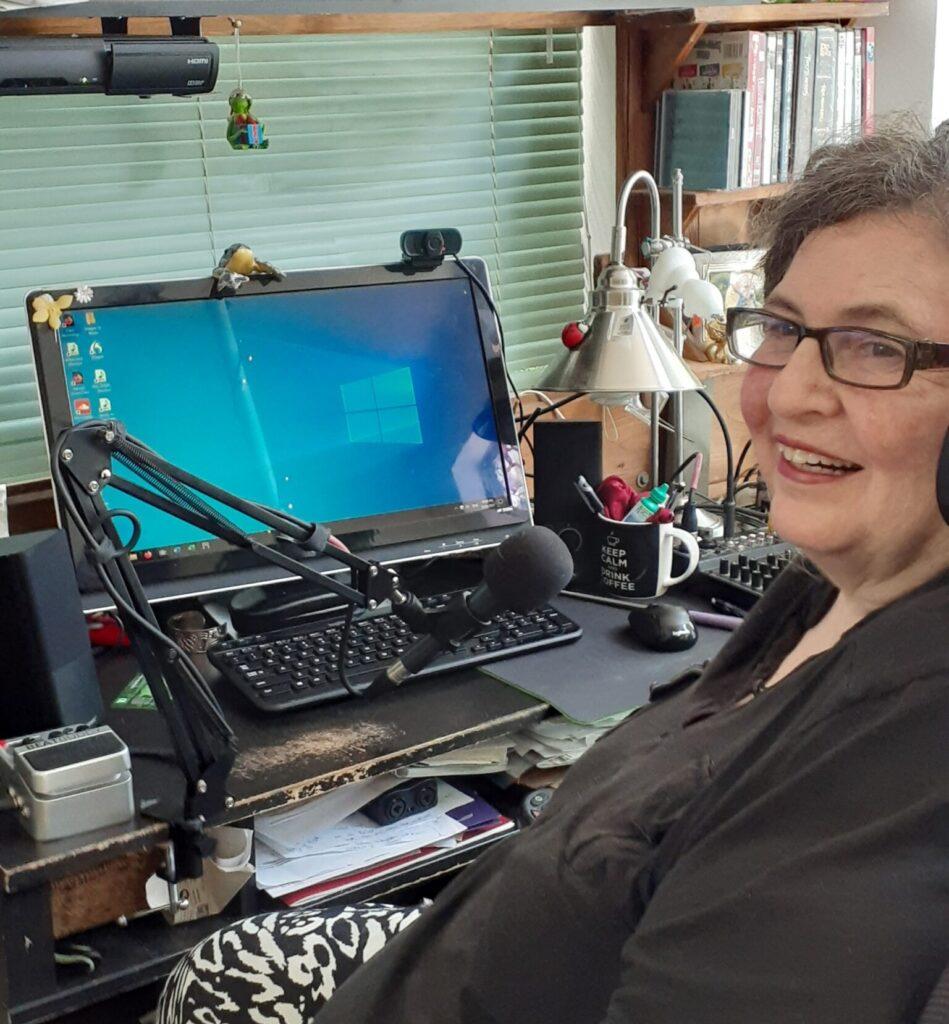 Jaycee at her computer