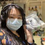 Maker Mimi Xia showing off her LipSyncs. (Image Credit: Mimi Xia)