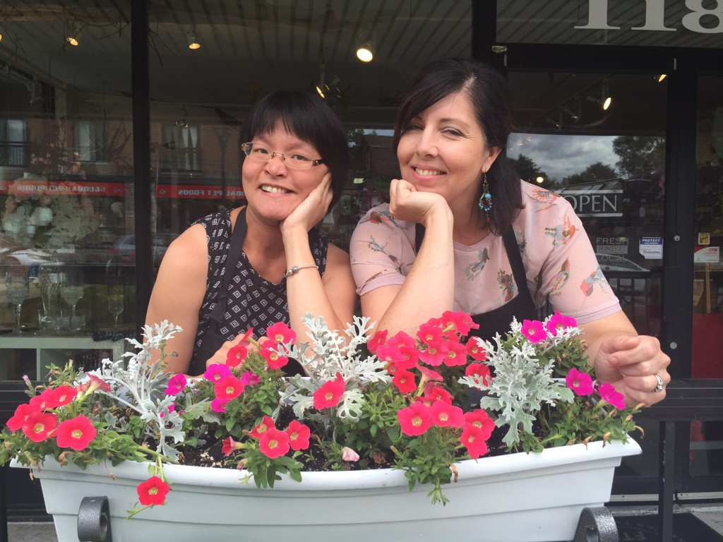 Left to right: Quyen, Working Together participant, and Karen LeRoy, owner of Alta Vista Flowers